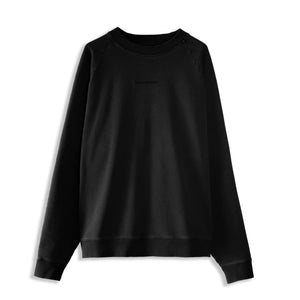 MONO EMBROIDERED SWEATSHIRT - BLACK ON BLACK