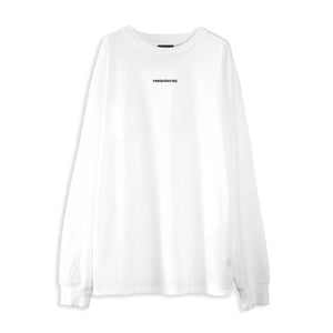 EMBROIDERED LONG SLEEVE TEE - WHITE NOISE