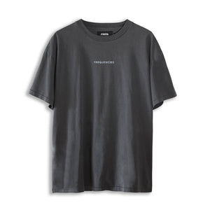 EMBROIDERED STEREO TEE - STATIC BLACK