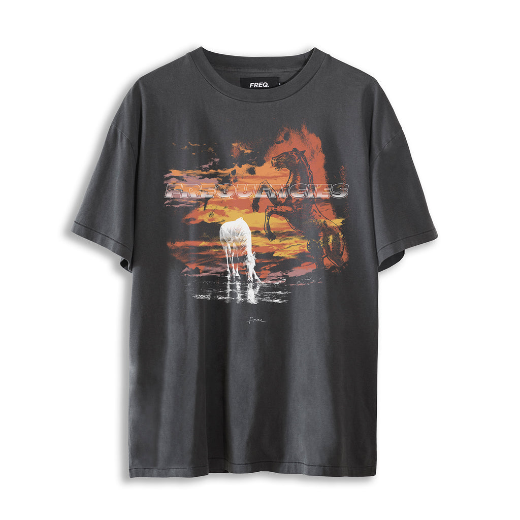 WHITE HORSE TEE - STATIC BLACK