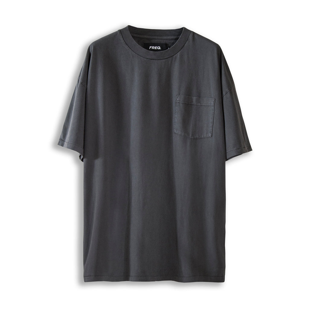 POCKET STEREO TEE - STATIC BLACK