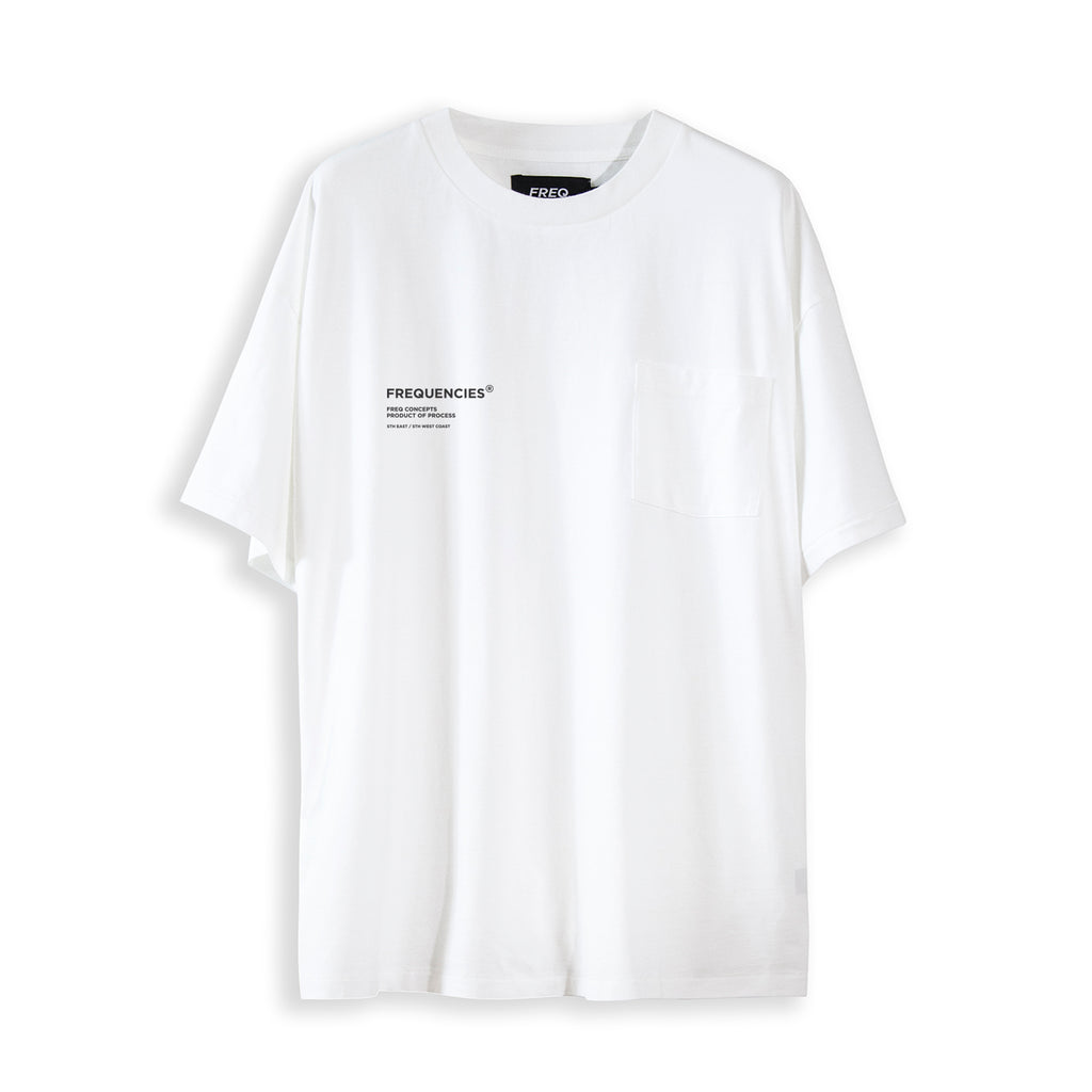 PROCESS POCKET TEE - WHITE NOISE