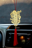 ADORAA's Shrinathji Hanging Accessories for Car rear view mirror Decor in Brass