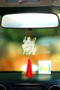 ADORAA's Hindu Godess Durgaa Maa Car rear view mirror hanging décor accessories in Brass