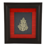 Adoraa's Ladoo Ganesha framed brass metal wall art décor