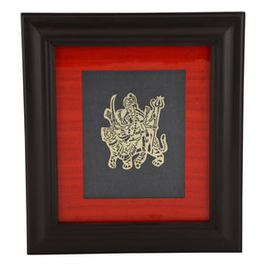 Adoraa's Durga framed brass metal wall art décor