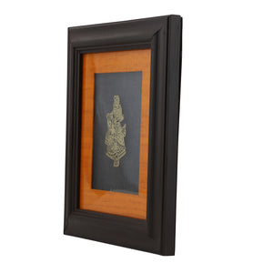 Adoraa's Radha Krishna framed brass metal wall art décor