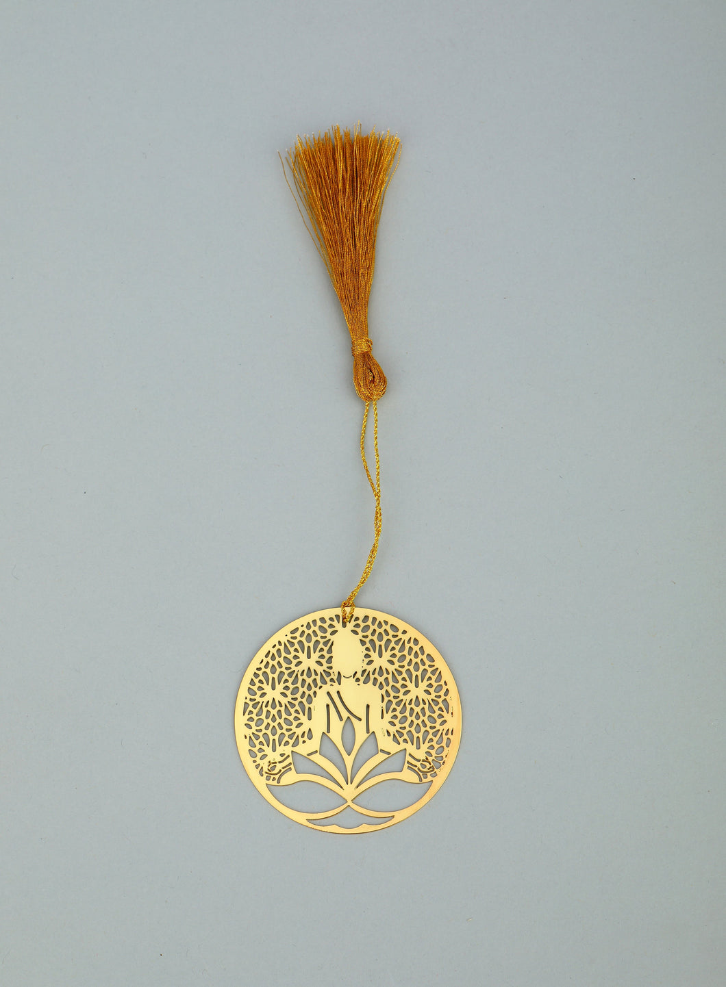 ADORAA's  Jaali Buddha Golden Brass Metal Bookmark