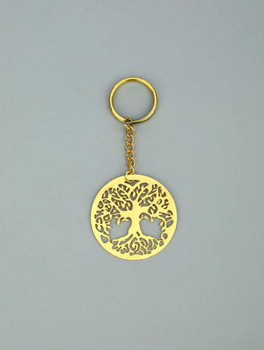 Adoraa's Tree Of Life Brass Key Chain