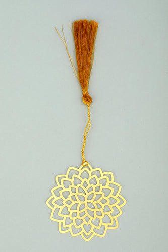 ADORAA's  Lotus Golden Brass Metal Bookmark