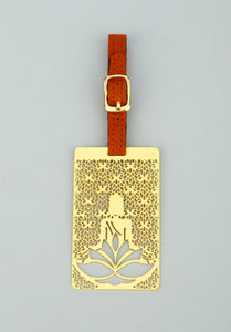 Adoraa's Rythym Collection Buddha Brass Luggage Tag