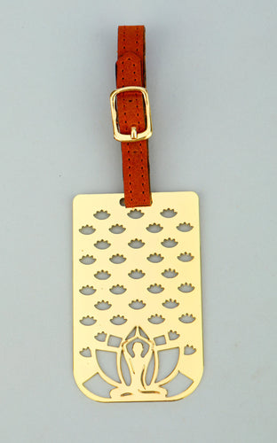 Adoraa's Rythym Collection Yoga Brass Luggage Tag