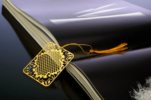 ADORAA's  Ornamental Taj Golden Brass Metal Bookmark
