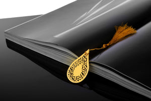 ADORAA's Dew Drop Jaali Golden Brass Metal Bookmark