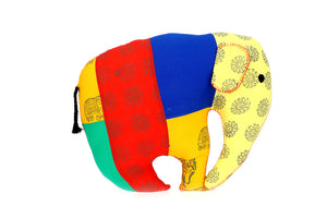 Adoraa's Elephant Shape Multicolor Handmade Cushion - B