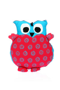 Adoraa's Owl Shape Blue and Pink color handmade cushion