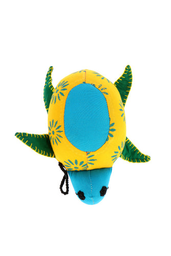 Adoraa's Tortoise Shape Yellow and Green Handmade Décor/Toy