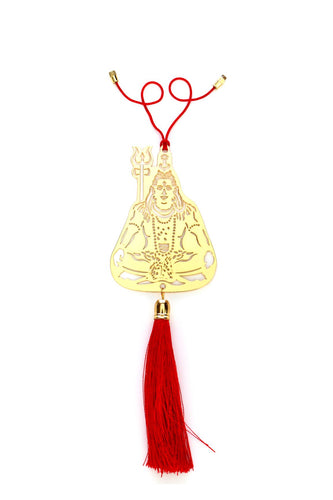 ADORAA's Hindu God Shiva Car rear view mirror hanging décor accessories in Brass
