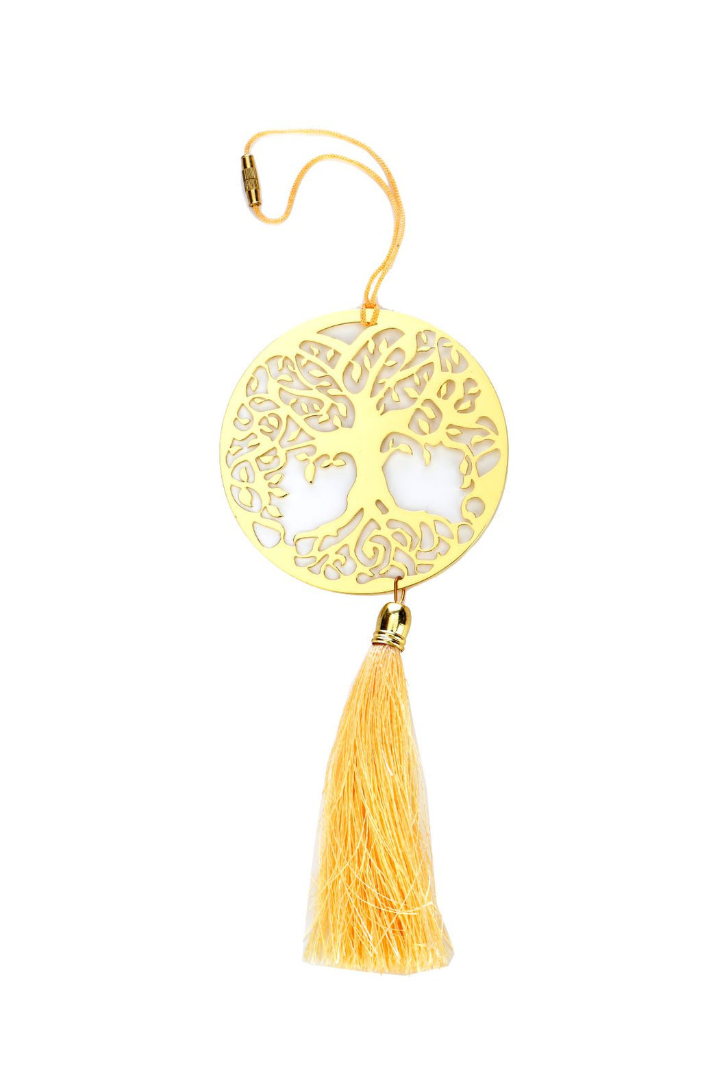 ADORAA's Tree of Life Car rear view mirror hanging décor accessories in Brass