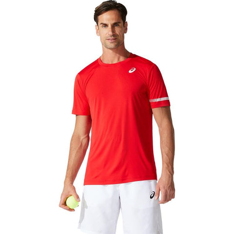 Asics Court M SS Tee T-Shirt Heren Classic Red