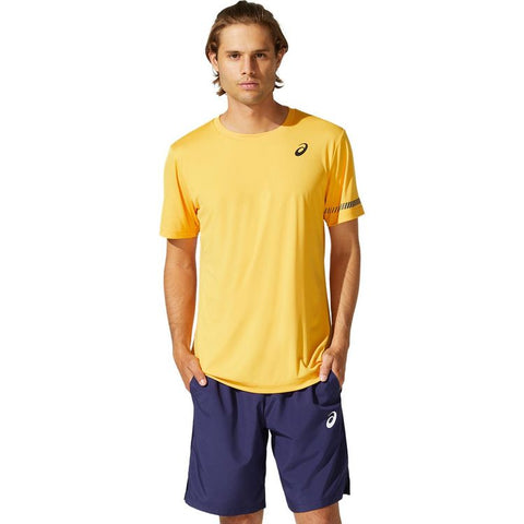 Asics Court M SS Tee T-Shirt Heren Tiger Yellow