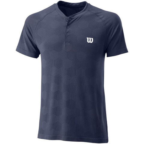 Wilson Power Henley Seamless T-Shirt Navy