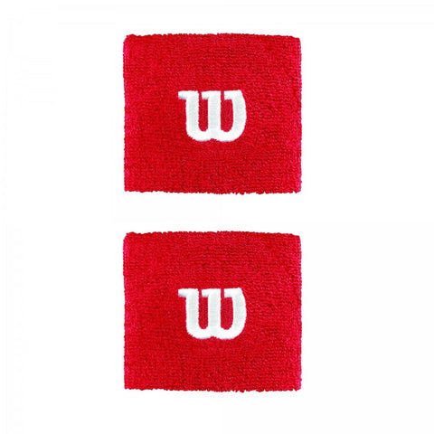 Wilson Wristband Tennis zweetband rood
