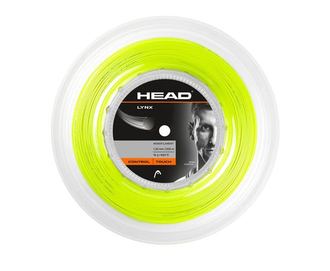 HEAD Lynx Yellow 1.30mm Tennissnaar op rol 200m