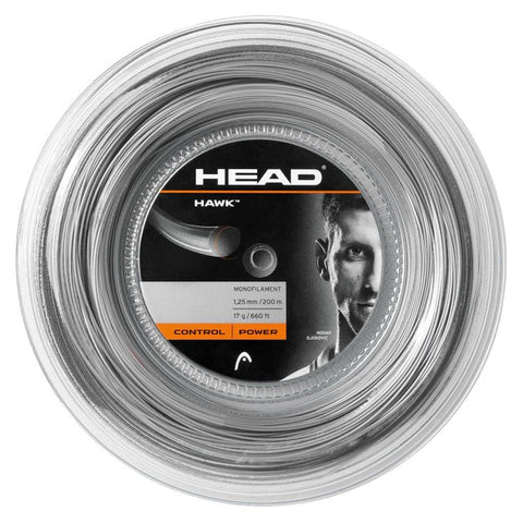 HEAD Hawk Power 1.25mm Tennissnaar op rol 200m
