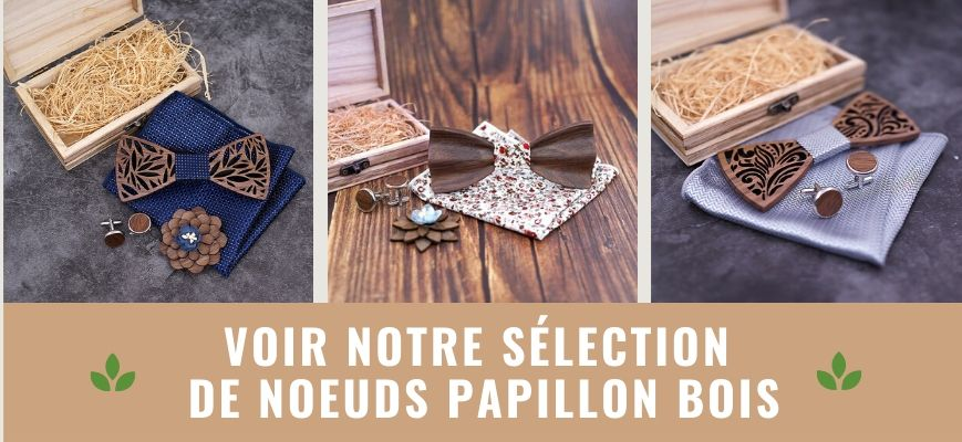 collection noeud papillon bois