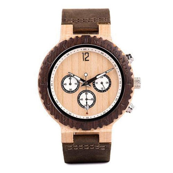 La Crème Chronographe - Cuir - My Little Wood Store