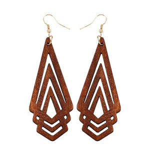 Boucles d'oreilles - Triangles - My Little Wood Store