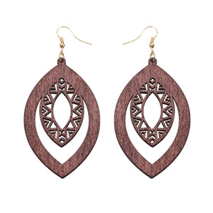 Boucles d'oreilles - Aztec - My Little Wood Store