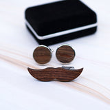 Coffret Boutons de manchette et Pince - Moustache - My Little Wood Store