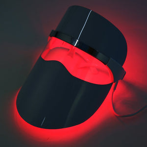 Red LED Light Beauty Facial Mask for Anti-Aging Daily Facial Skin Care