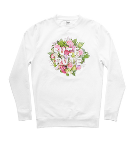 "SWEAT-SHIRT COL ROND | ""BOUQUET"" - Blanc"