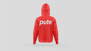 "SWEAT-SHIRT CAPUCHE | ""SUCEPUTE RECTO/VERSO"" - Rouge"