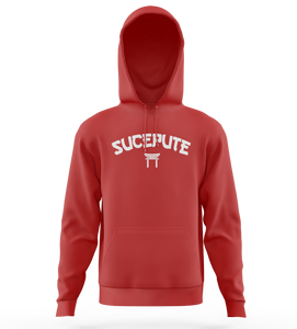"SWEAT-SHIRT CAPUCHE | ""TEMPLE"" - Rouge"