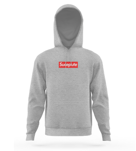 "SWEAT-SHIRT CAPUCHE | ""SUCEPUTE"" - Gris Chiné"
