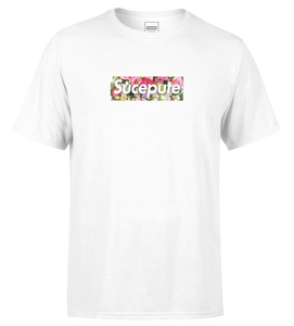 "T-SHIRT MANCHES COURTES | ""SUCEPUTE FLOWERS"" - Blanc"