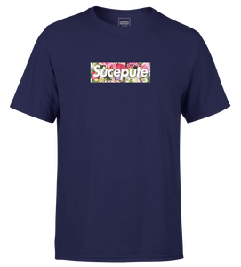 "T-SHIRT MANCHES COURTES | ""SUCEPUTE FLOWERS"" - Navy"
