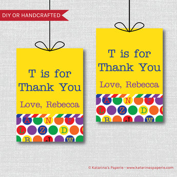 ABC Birthday Favor Tags