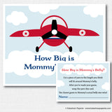 Vintage Airplane Baby Shower Games Set