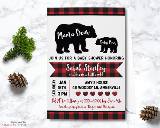 Little Cub Baby Shower Invitation