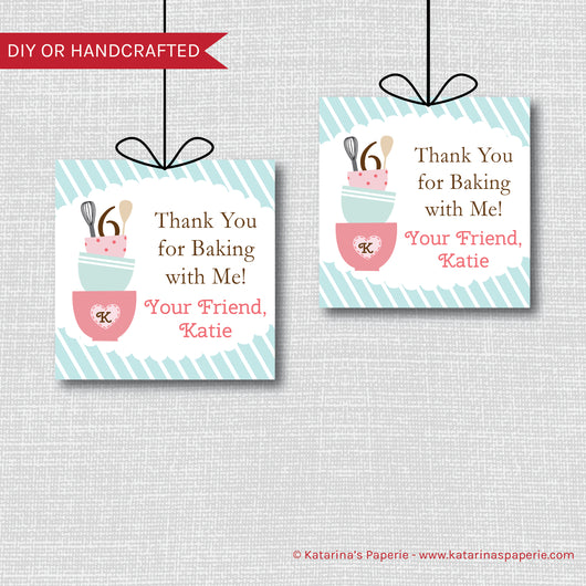 Baking Birthday Favor Tags