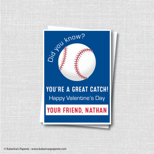 Baseball Valentine's Day Card