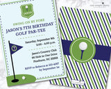 Printable Boy Golf Birthday Invitation