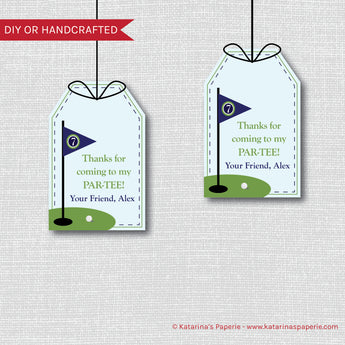 Boy Golf Birthday Favor Tags