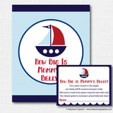 Boy Sailboat Baby Shower Games Set