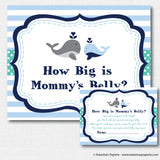 Boy Whale Baby Shower Games Set